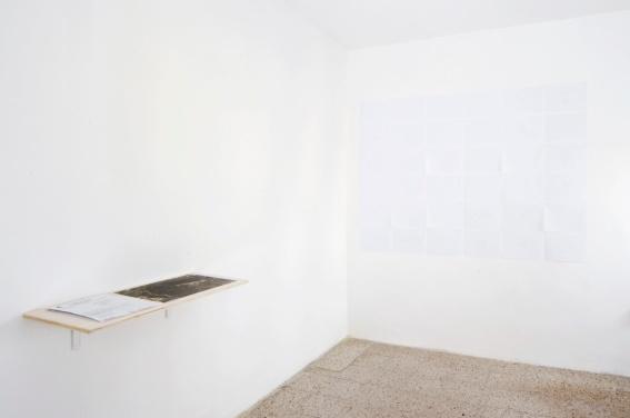 Emanuela Ascari, Luogo Comune, Istallazione di 25 disegni e documenti, La Pitech, Guilmi, 2012