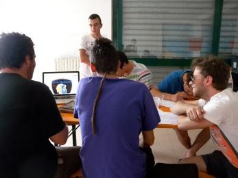 fase di progettazione durante il workshop di serigrafia