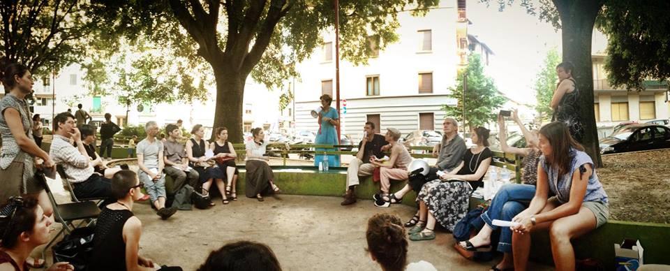 Franca Falletti, Lo stato dell'arte, 11 giugno 2014, piazza Giorgini, Firenze