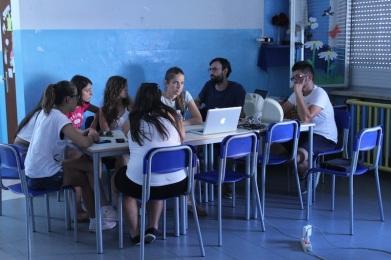 Il workshop radiofonico di Radio Papesse e Tiziano Bonino. Foto © G. Gaggia
