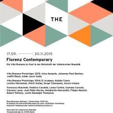 Manifesto di Florenz Contemporary, con Juan Pablo Macias, promossa da Villa Romana, Forenze