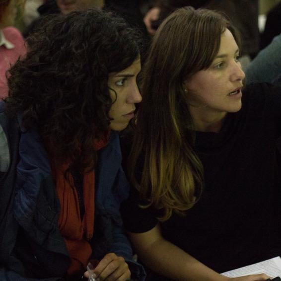 Elena Mazzi e Michela Lupieri durante un incontro pubblico ad Art 4 the City, San Pietroburgo, Settembre 2015 © Art4city