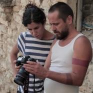 Elena Mazzi e Andras Calamndrei durante il backstage di Avanzi © Matteo Coluccia
