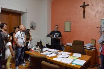 Inagurazione mORALE. Nell'ufficio del sindaco. Foto: Matilde Martino