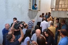 Inaugurazione mORALE. Nei pressi della torre dell'acqua. Foto Matilde Martino