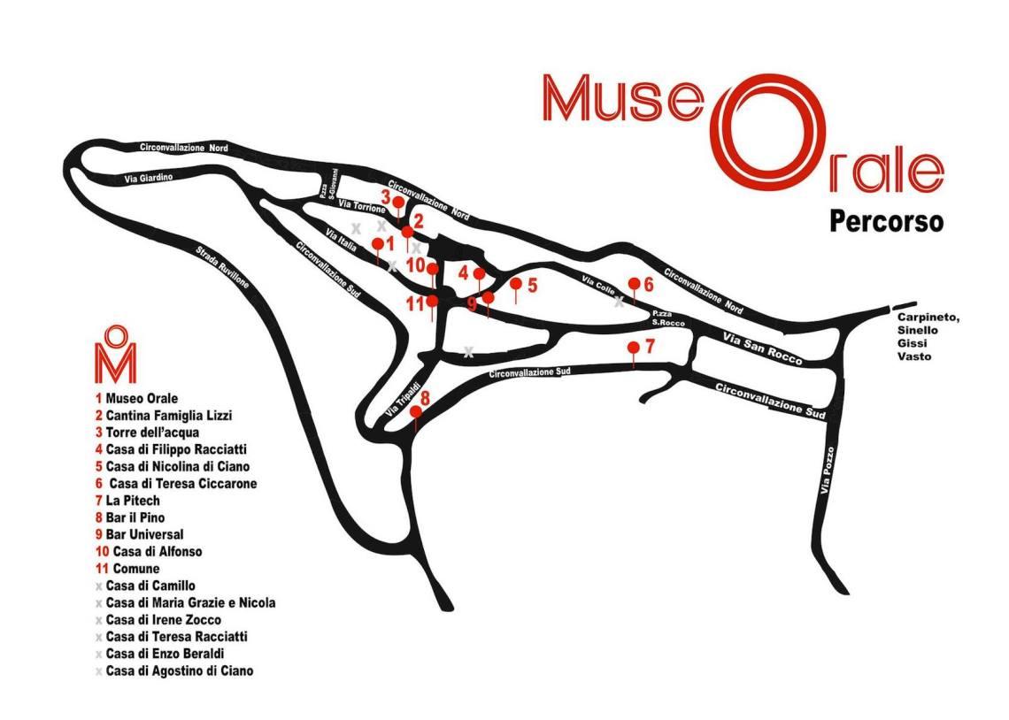 mappa percorso mORALE