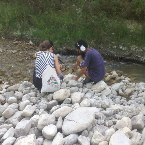 Pendulo recording the water of the river Sinello