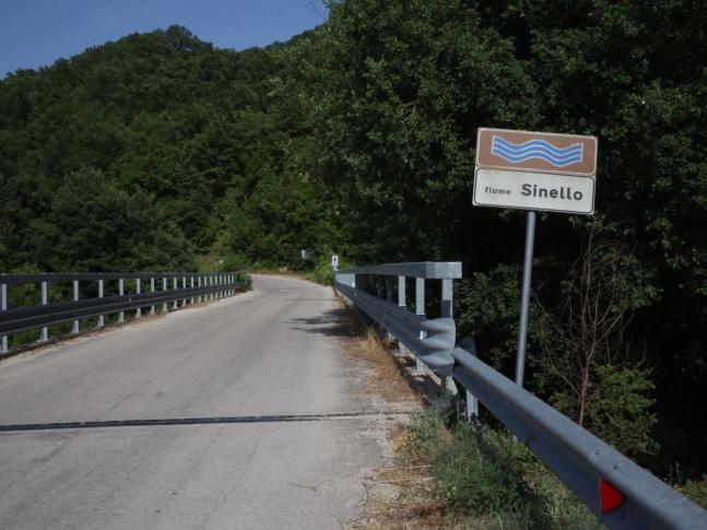 The bridge over the Sinello river