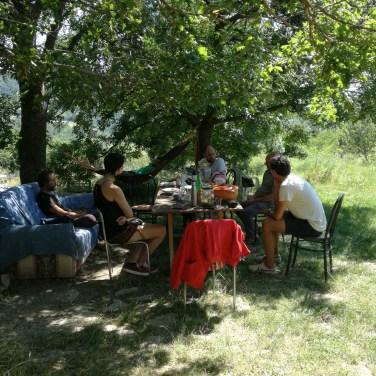 pranzo finale all'aria aperta alla Repubblica delle Patate